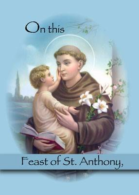 On this Feast of St Anthony