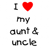 I love my aunt and uncle