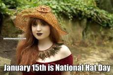 January 15th is National Hat Day