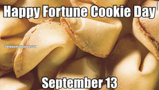 Happy Fortune Cookie Day September 13