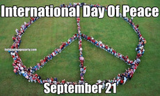 International Day Of Peace September 21