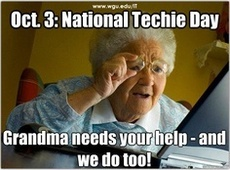 Oct 3 National Techie Day