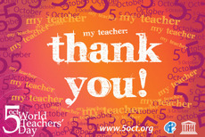 Oct 5 World Teachers' Day