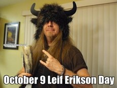 October 9 Leif Erikson Day