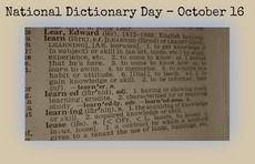 National Dictionary Day October 16