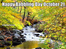 Happy Babbling Day October 21