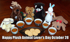 Happy Plush Animal Lover's Day October 28
