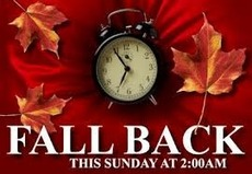 Fall back this Sunday at 2am