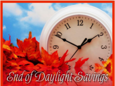 End of Daylight Savings