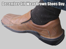 December 4th Wear Brown Shoes Day