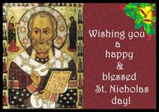Wishing you a happy and blessed St Nicholas day