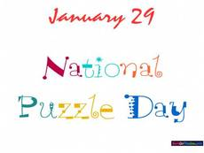 January 29 National Puzzle Day
