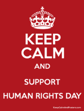 Keep calm and support Human Rights Day