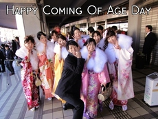 Happy Coming Of Age Day