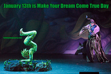 January 13th is Make Your Dream Come True Day