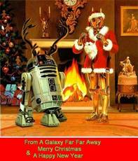 From a galaxy far far away Merry Christmas and a Happy New Year