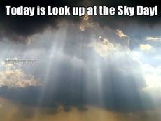 Today is Look up at the Sky Day!