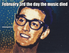 February 3rd the day the music died