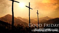 Good Friday.  Looking at the cross.