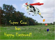 Super Cow has Happy Eastered!