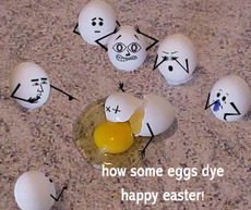 How some eggs dye. Happy Easter!