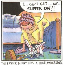 The Easter Bunny gets a rude awakening