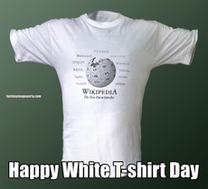 Happy White T-shirt Day