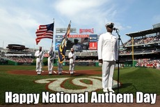 Happy National Anthem Day