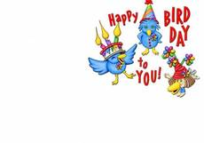 Happy Bird Day to you!