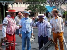 April 11th is Barbershop Quartet Day