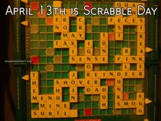 April 13th is Scrabble Day