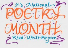 It's National Poetry Month