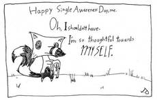 Happy Singles Awareness Day, me