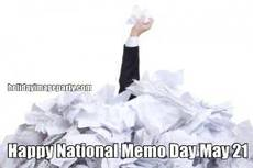 Happy National Memo Day May 21