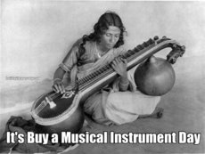 It's Buy a Musical Instrument Day