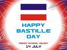 Happy Bastille Day French National Holiday July 14