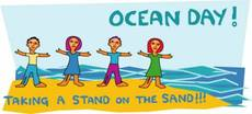 Ocean Day! Taking a stand on the sand!