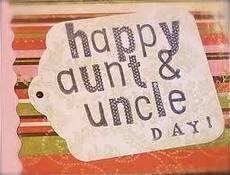 Happy Aunt and Uncle Day!