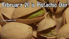 February 26 is Pistachio Day