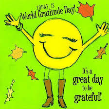 Today is World Gratitude Day