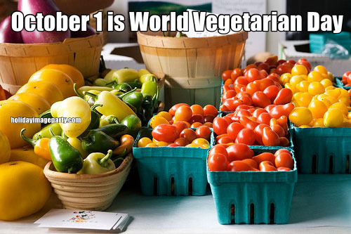 October 1 is World Vegetarian Day