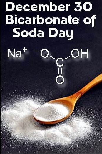 December 30 Bicarbonate of Soda Day