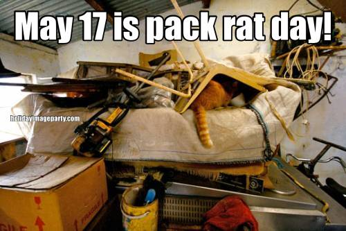 May 17 is pack rat day!