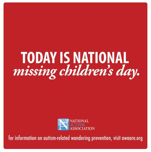 Today is National Missing Children's Day