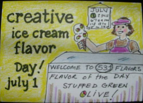 Creative Ice Cream Flavor Day July 1
