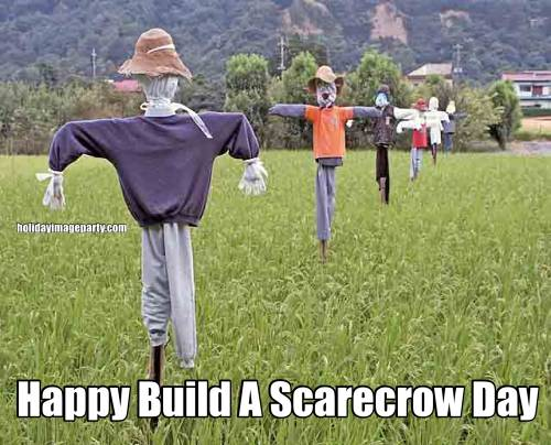 Happy Build A Scarecrow Day