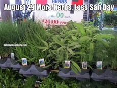 August 29 More Herbs, Less Salt Day