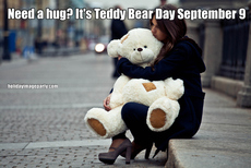 Need a hug? It's Teddy Bear Day September 9