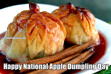 Happy National Apple Dumpling Day