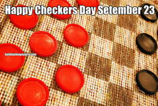 Happy Checkers Day Setember 23